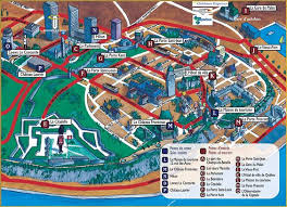canadian map cities map of the city the numbers indicate some of the city s