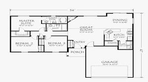 single story floor plans with open floor plan one story house layout architecture design