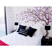 pop decors 144 in x 83 in brown tree and lilac