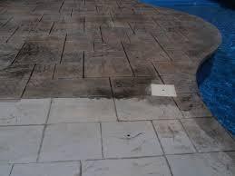 elegant simple modern stamped concrete pool deck decoration ideas