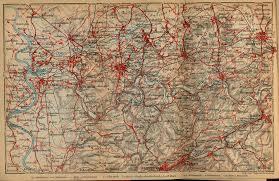 Dortmund Germany Map Rhenish Westphalian Coal District From Duisburg To Dortmund 1910