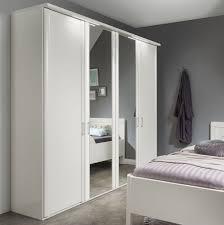 Schlafzimmer Schrank Geringe Tiefe Weißer Kleiderschrank Mit Spiegel Günstig Calimera Betten De