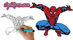 amazing spiderman drawing kids drawing spiderman