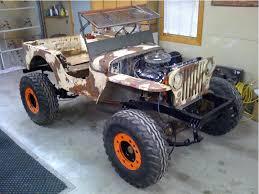 willys jeep lifted cj2a flatfender build ecj5