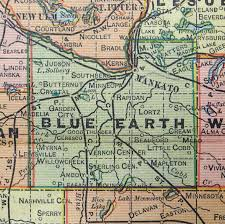 Mn Counties Map Blue Earth County Map Pendant Blue Earth County Historical Society