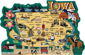 map of iowa state map iowa the cat s meow