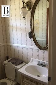 Before And After Small Bathrooms Before And After First Time Diyers Rescue A Fishy Fugly Floral