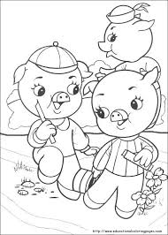 free printable coloring pages 3 pigs pigs