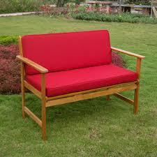 coral coast sutter 4 ft outdoor wood and sling garden bench