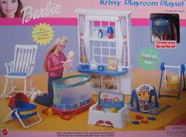 Amazon Baby Swing Chair Amazon Com Barbie Krissy Playroom Playset W Baby Swing U0026 More