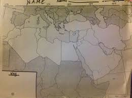 Blank Map Of Middle East And North Africa by North Africa And The Middle East N A M E Mrsryansgeography