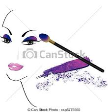 vector clipart of face sketch with make up csp5776560 search
