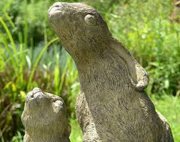hare garden ornament etsy