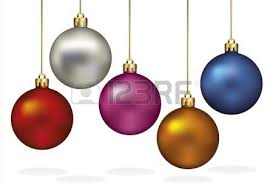ornaments hanging on gold thread royalty free cliparts