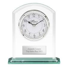 personalized anniversary clocks glass personalized desk clock