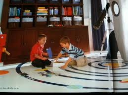 painted wood floors room for young ones