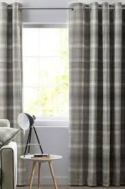 Beige And Gray Curtains Check Curtains Checked Ready Made Curtains Next Official Site