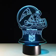 new england patriots lights nfl logo new england patriots 3d led light remote touch control