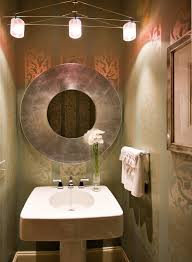 bathroom powder room ideas sparkle wallpaper with striped walls powder room contemporary and