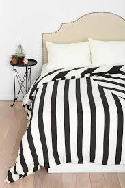black and white striped geomteric duvet cover