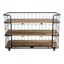 Large Bakers Rack Large Odetta Industrial Metal Shelving Unit Kitchen Storage