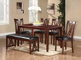 homelegance brooksville 6 piece dining set warm cherry 2459