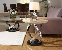 Marble Effect Coffee Tables Exeter Marble And Steel Lamp Table