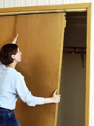 How To Install A Closet Door In Closet Bypass Doors In Stead Of Expensive Barn Door Ware