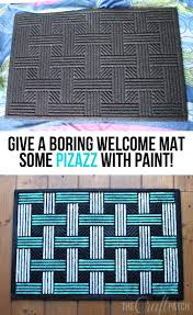 Beautiful Rubber Mats The Craft Patch Painted Recycled Rubber Door Mat And Your Opinion