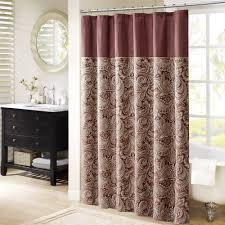 Burgundy Shower Curtain Sets Bathroom Decor - Bathroom curtains designs