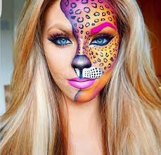 leopard halloween makeup ideas lisa frank idea for halloween u2026 pinteres u2026
