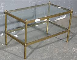 Brass Glass Coffee Table Bagues Tubular Brass Glass Coffee Table Size For Sale