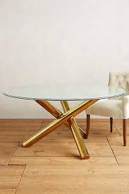 gold and glass table legs crackled glass dining table
