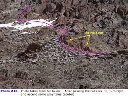 Colorado 14er Map by 14ers Com U2022 Handies Peak Route Description South Slopes