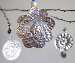purple twig tin ornaments