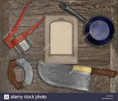 vintage kitchen knives vintage kitchen knife and utensils wooden board board blank