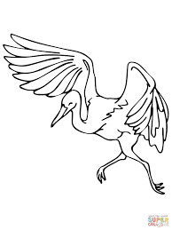 dancing heron coloring page free printable coloring pages