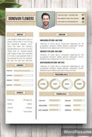 creative resume templates resume template cover letter donovan flowers creative