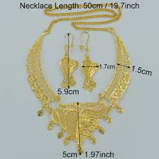 wedding necklace gifts images Anniyo dubai jewelry sets necklace earrings gold color arab jpg