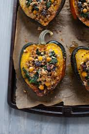 kara lydon thanksgiving stuffed acorn squash vegetarian the