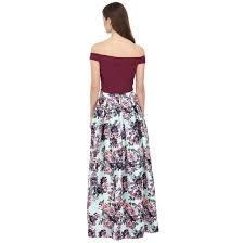 martini purple martini green floral long skirt u0026 purple crop top 2 pc satin dress