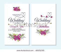 bridal cards wedding invitation thank you card save stock vector 300846947