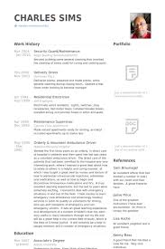 Security Guard Resume Template For Free Security Resume Samples Visualcv Resume Samples Database