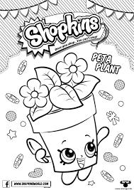 coloriage shopkins peta plant dessin à imprimer coloriages et