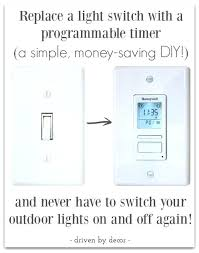 automatic light switch timer no wiring programable light switch runs on 2 batteries no wiring necessary