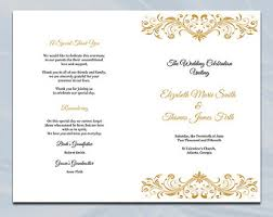 Church Wedding Programs Church Program Etsy