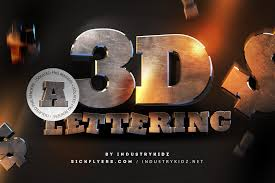 free 3d lettering pack by industrykidz designercandies