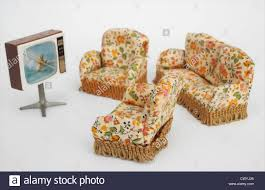 Dolls House Furniture Vintage Dolls House Furniture 1950s Stock Photo Royalty Free