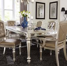 silver dining room orsina silver dining table for 499 94 furnitureusa