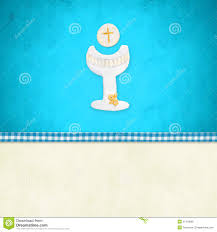 my communion my holy communion invitation reminder stock illustration
